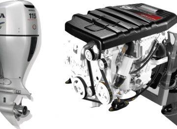 Подвесной и стационарный лодочный мотор